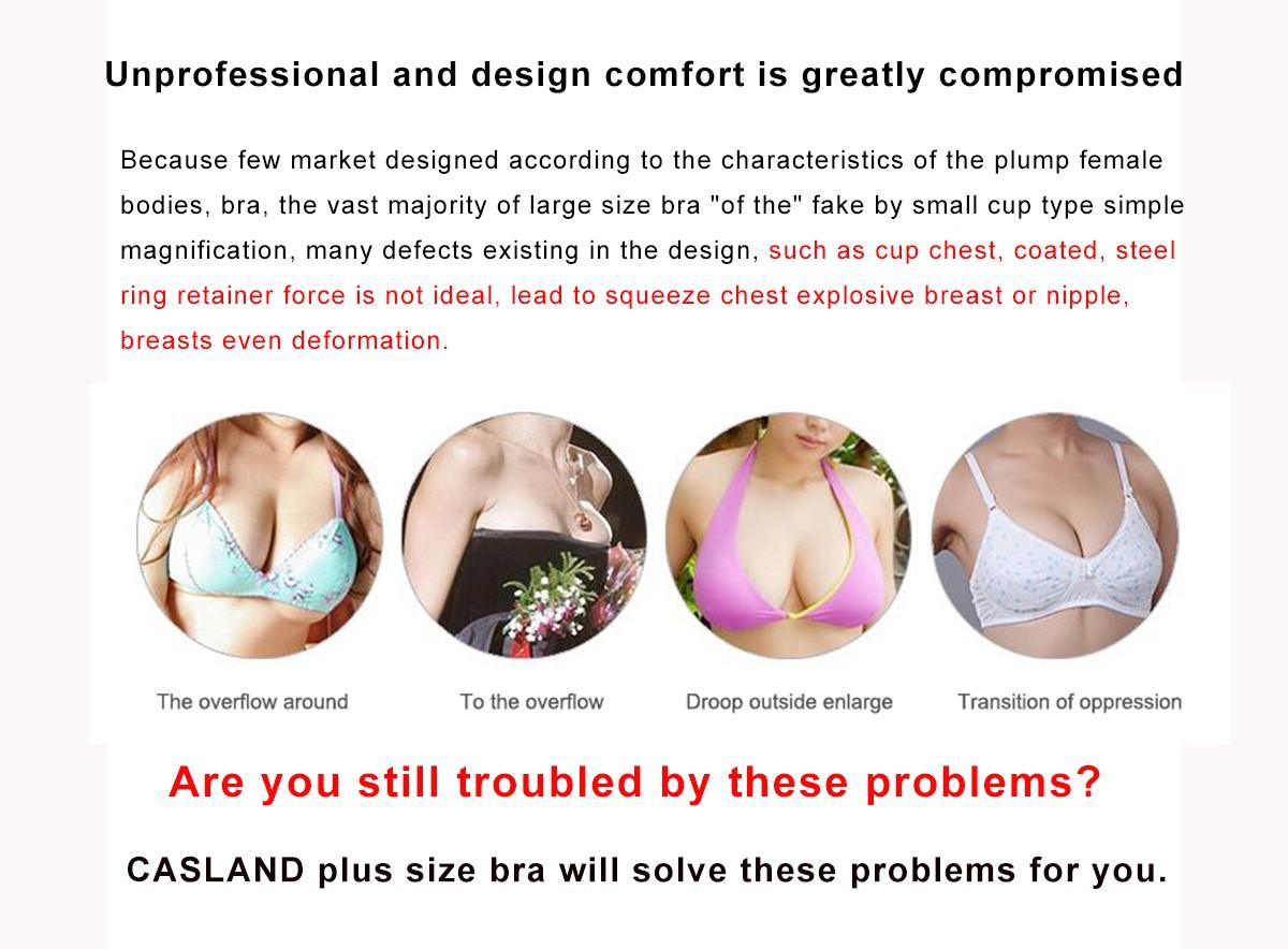 Casland-Best Womens Underwire Nursing Bra Plus Size Plus Size Lingerie-2