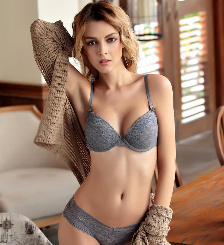 Ladies Panty And Lace Cup Bra Sets