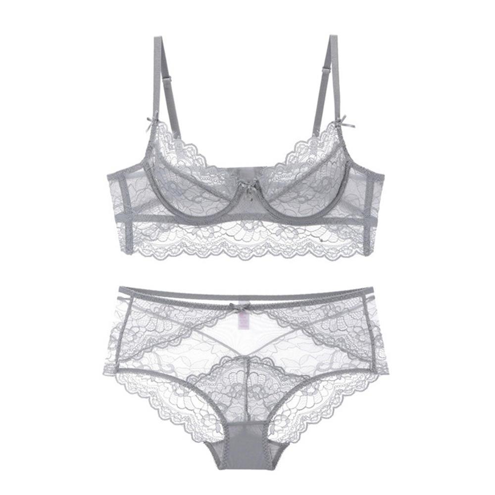 Lace Unpadded Bra And Panty Sets