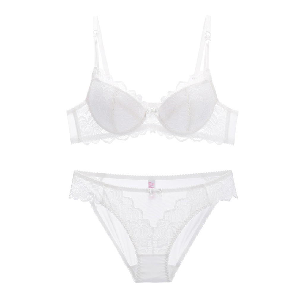 Lace Mould Thin Cup Bra Set