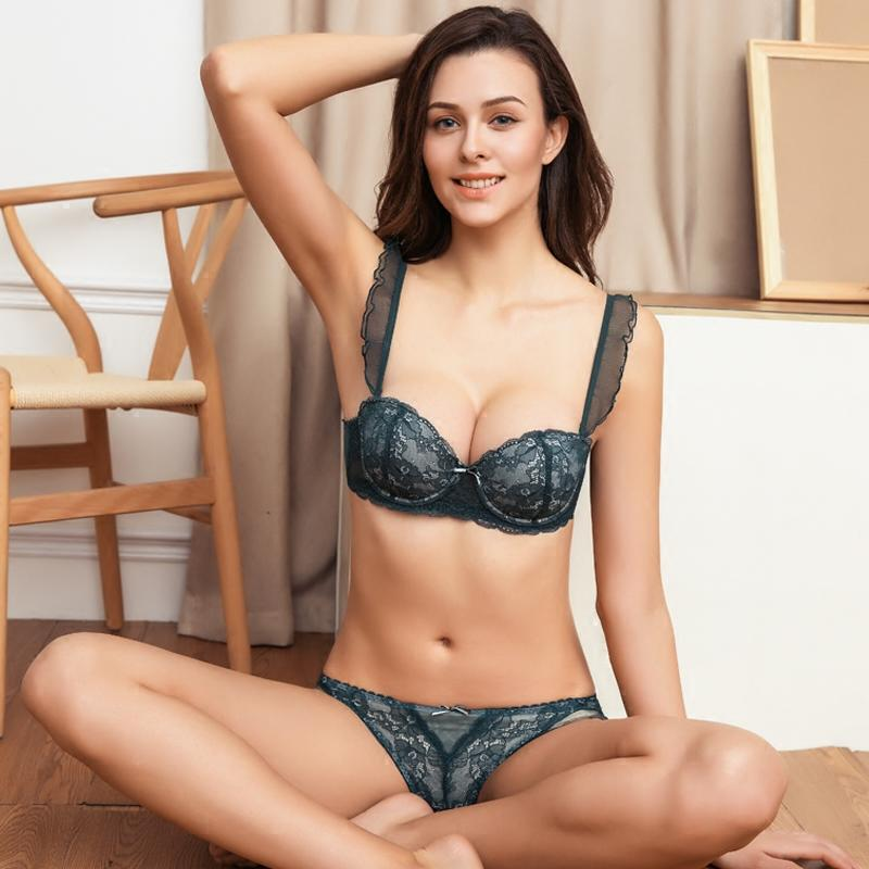 Sexy Women Padded Bra Panty Set