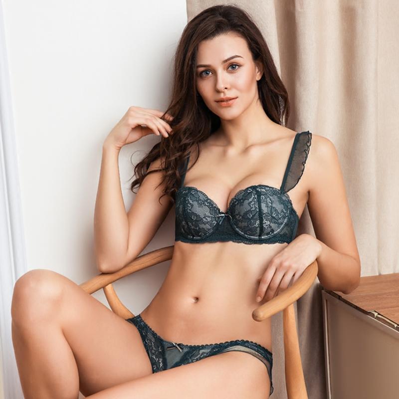 Sexy Women Padded Bra Panty Set