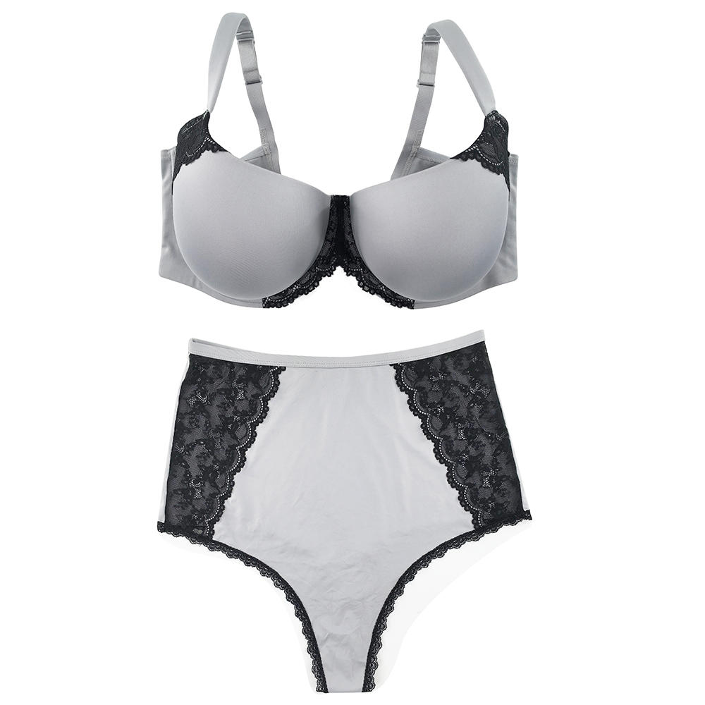 Push Up Plus Size Bra And Panty