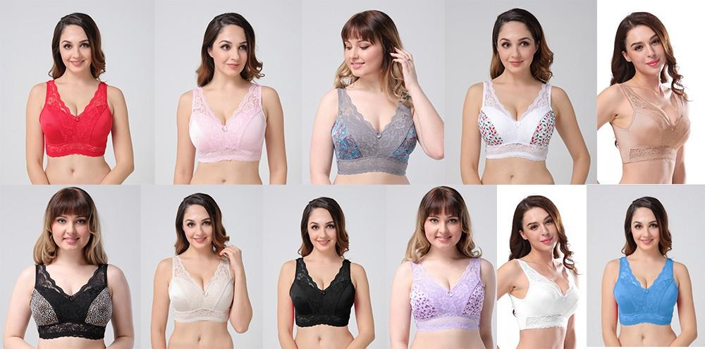Casland full wirefree bras plus size series for ladies