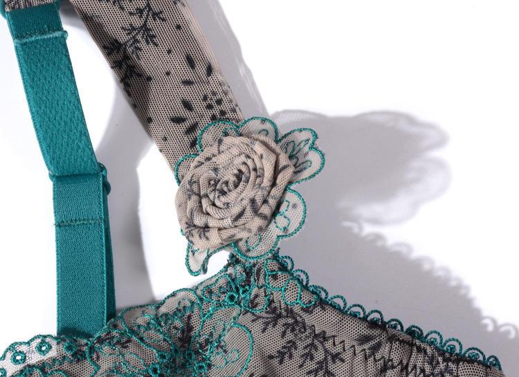 Fashion Lady Floral Print Thin Cup Big