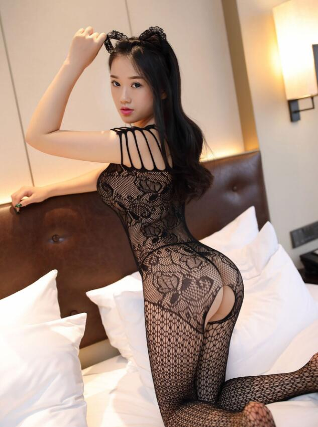 Casland-Wholesale Sexy Fish Net Lingerie Bodysuit-3