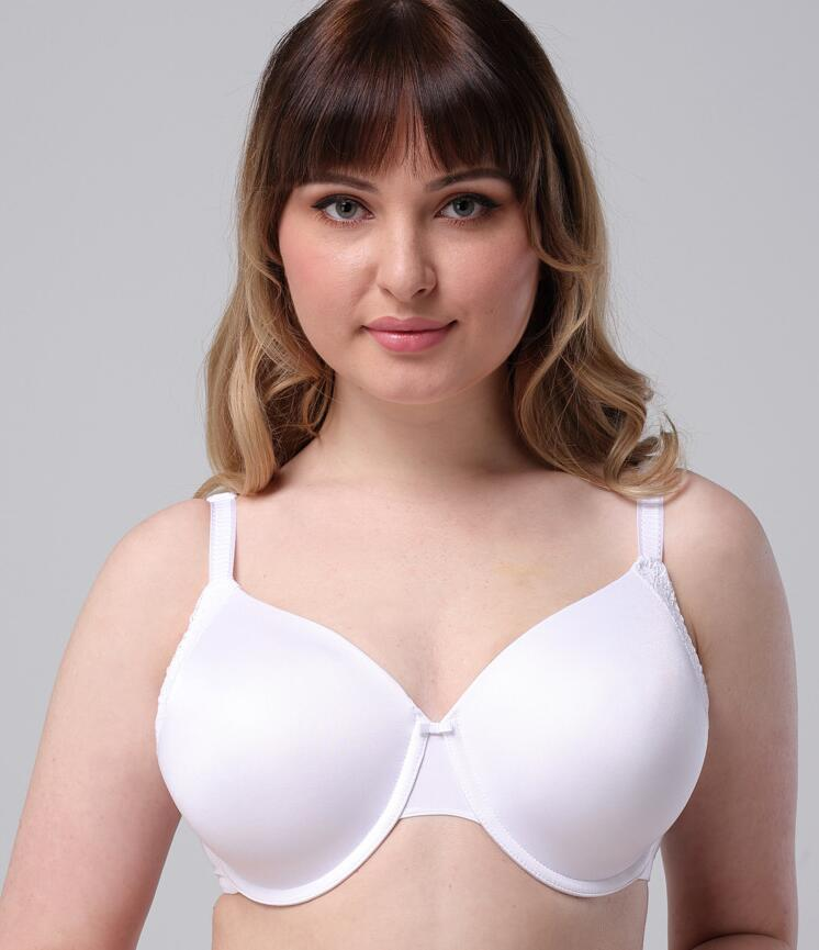Casland-New Solid plus Size Underwire Bra