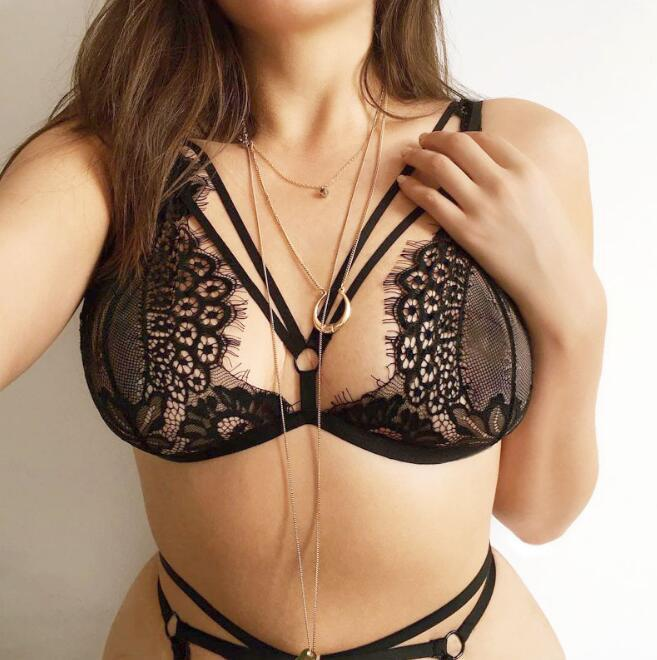New Arrival Women Sexy Eyelash Lace Bra Set