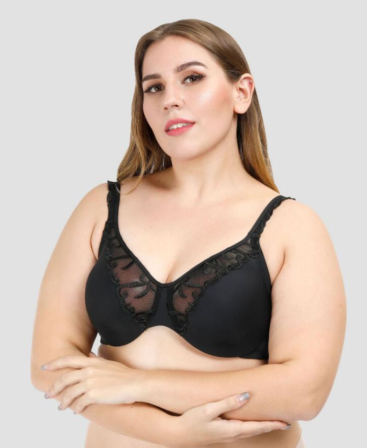 Casland-High Quality Woman Big Size Bras Embroidery