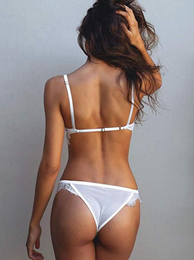 Casland-sexy lady eyelash lace lingerie bra set-1