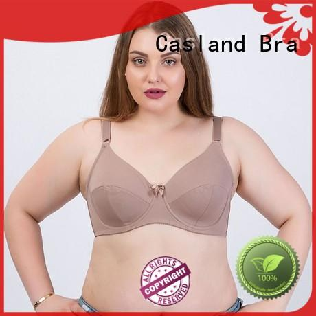high quality wirefree bras plus size red supplier for women