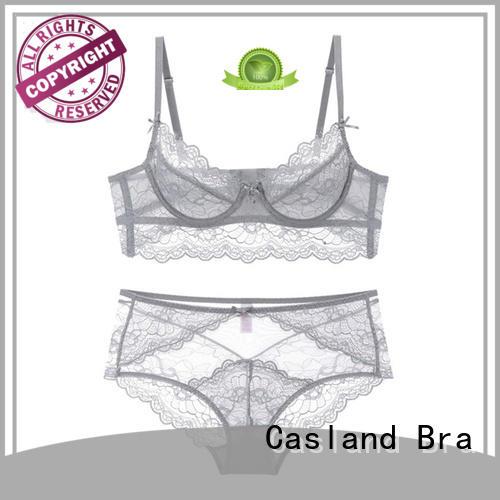fancy mould sheer lace bra Casland Brand