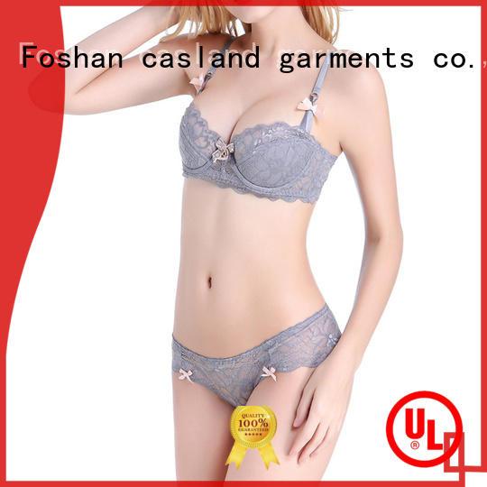 Casland unlined hot bra set factory for women