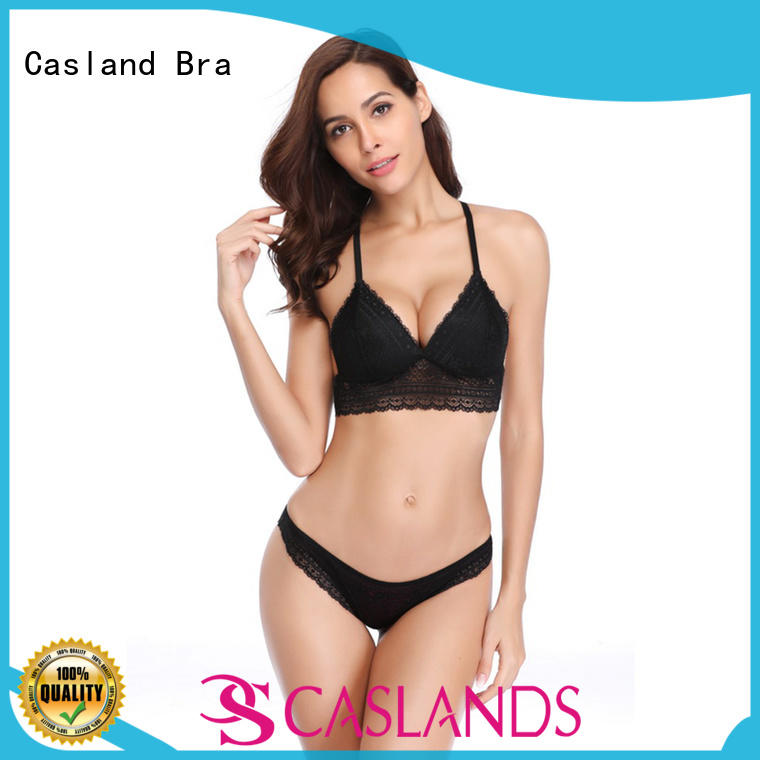 Casland romantic transparent bra and panty set for business for girls