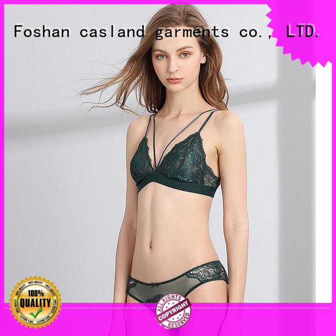 Casland sheer hot bra and panty supplier for ladies