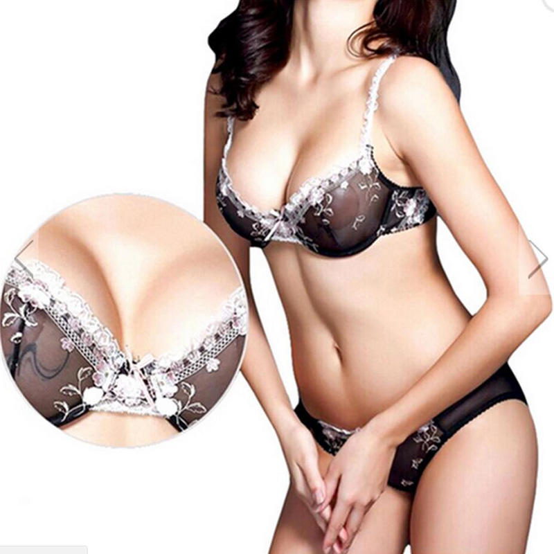 Sexy Lady See through unlined bra panty set  FPY308