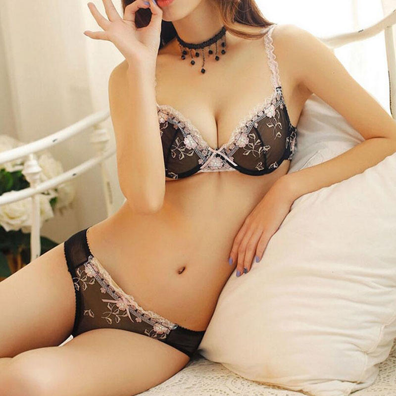 sheer lace bra push transparent Casland Brand