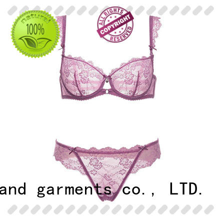 Casland professional transparent bra and panty set supplier for ladies