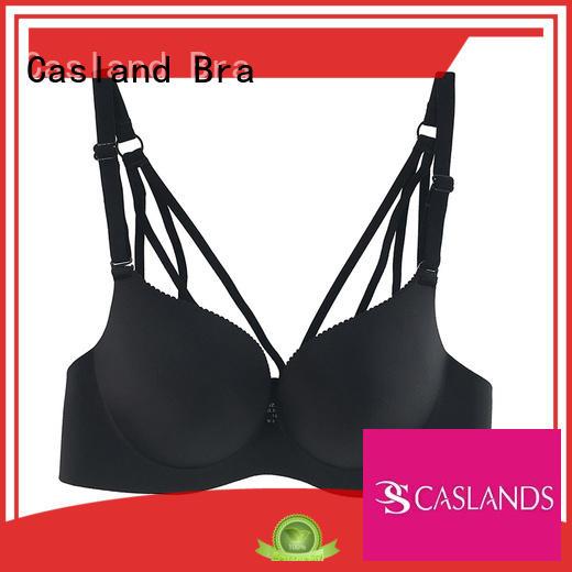 seamless padded bra lace closure Casland Brand wireless bras