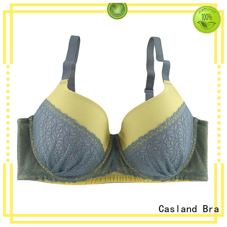 Hot cup plus size front closure bras floral Casland Brand