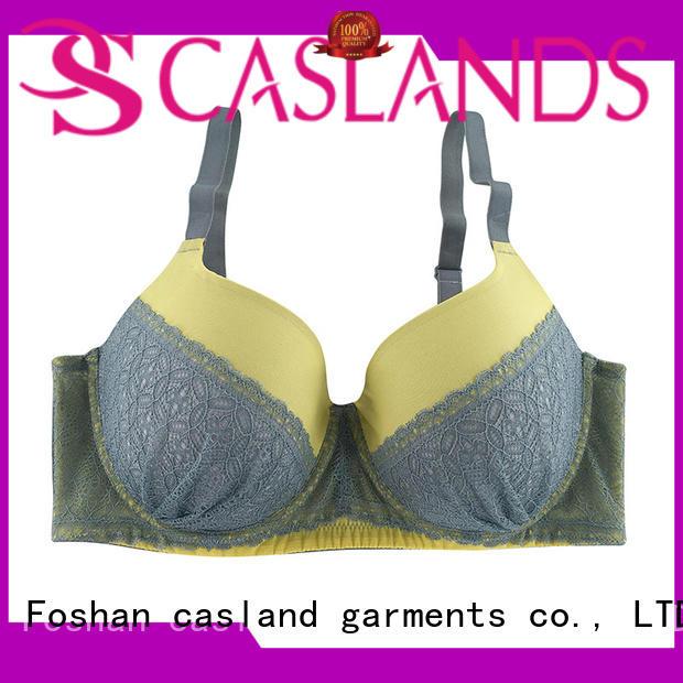 Wholesale leopard plus size front closure bras Casland Brand soft cup large women
