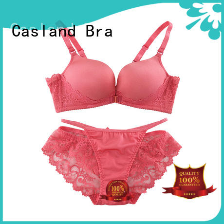 Casland Brand cross enclosure front seamless padded bra wireless