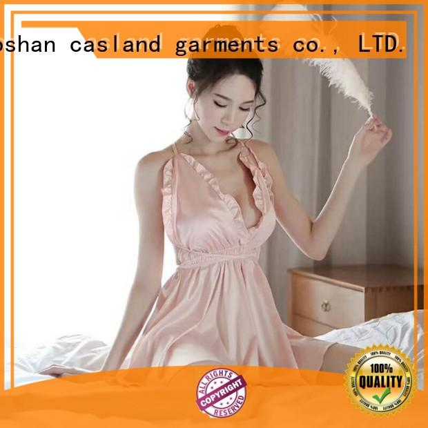 Casland slip silk sleeping gown manufacturer for ladies