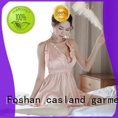 Casland slip silk sleeping gown factory for women