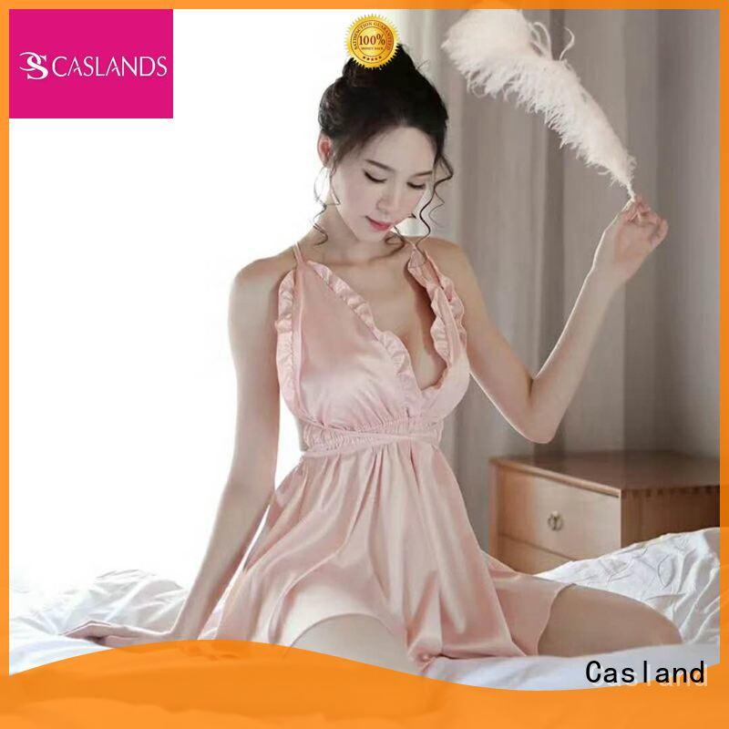 Casland Brand women comfortable optional color adults women's silk sleepwear