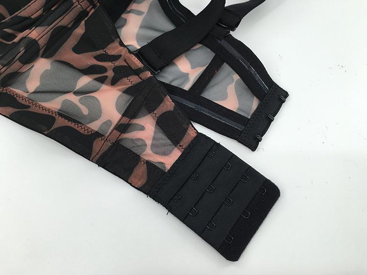 Leopard Print Plus Size Bra Panty Set