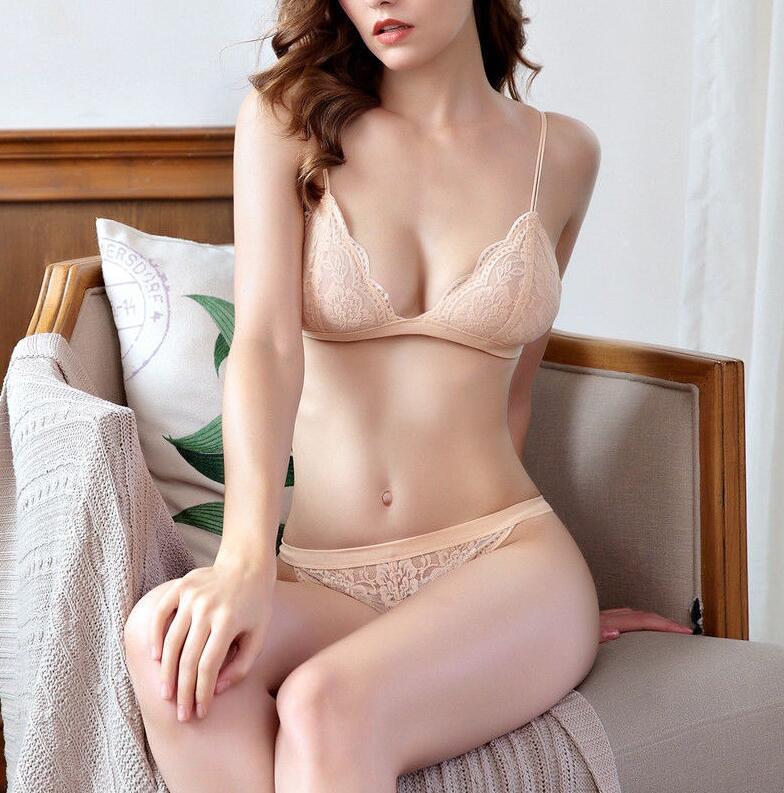 Young Lady Romantic Lace Bralette Panty Set