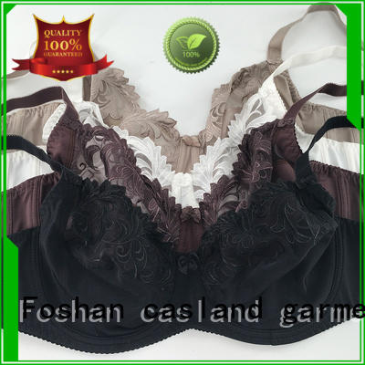 Casland Brand coverage quality plus size bras solid factory