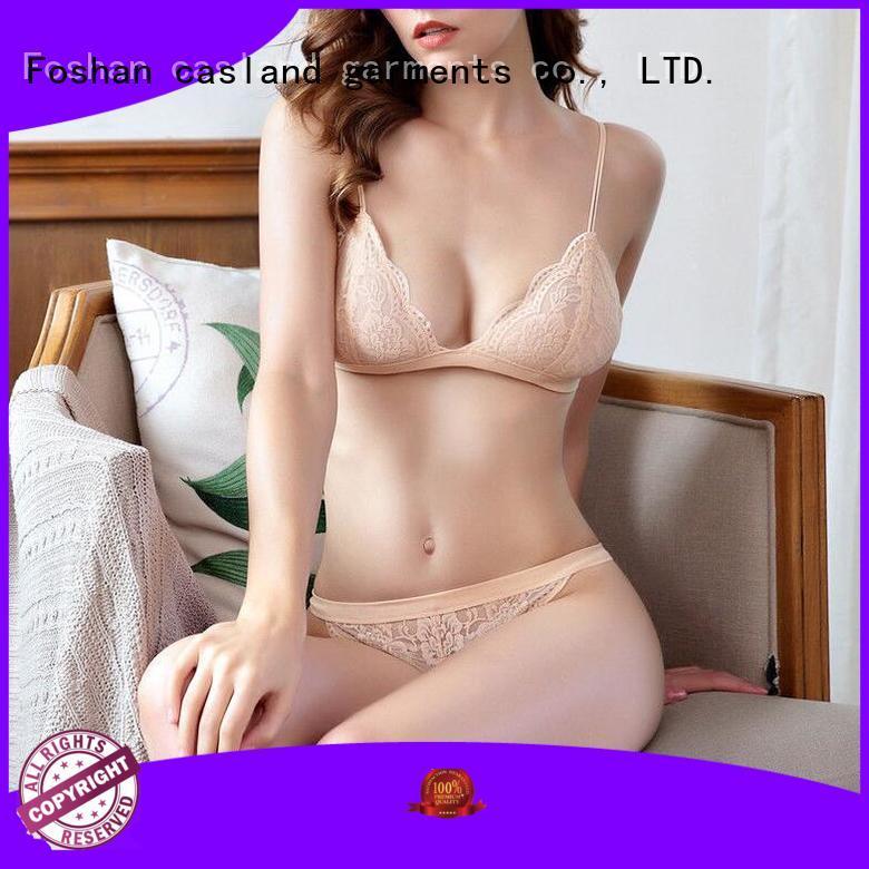sheer lace bra longline underwear Casland Brand company